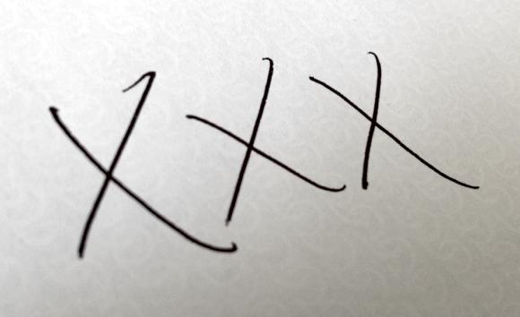 Schritt 1: Unterschrift auf Papier