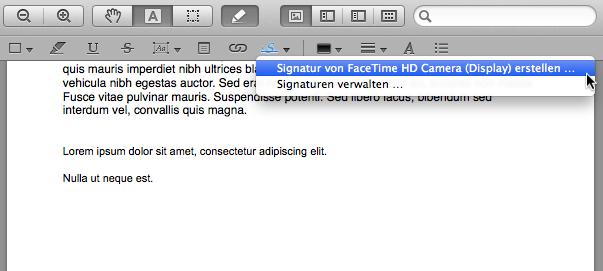 Schritt 2: Unterschrift aufnehmen
