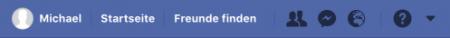 Screenshot Facebook-Navigationsleiste