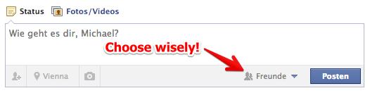 Facebook: Die korrekte Liste auswählen