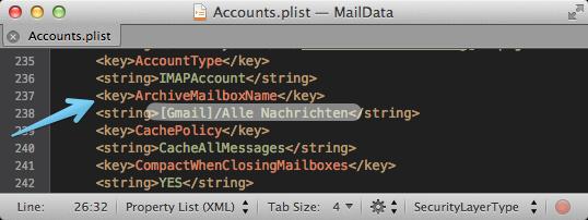 Gmail: Archivieren in Apple Mail