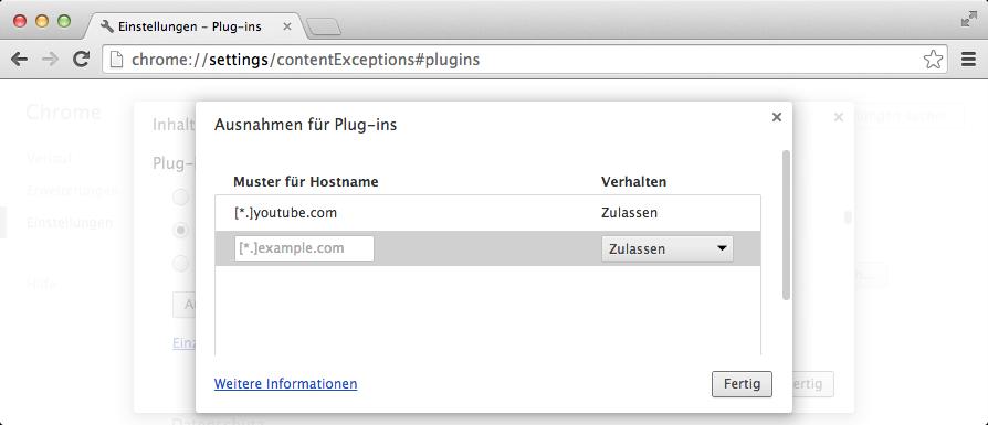 googlechrome-plugins-ausnahmen