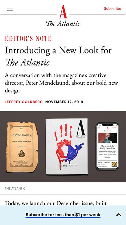 The Atlantic, Redesign 2019