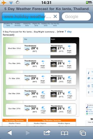 Tag 7: Überlegungen zum Wetter 1