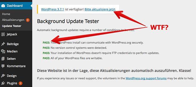 Okay, WordPress 3.7, mach jetzt dein Update! 7